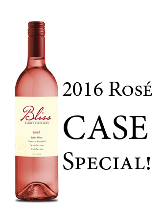 2016 Bliss Family Vineyards Rosé Case Special (12x750ml)