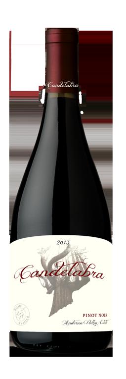 2014 Candelabra Pinot Noir, Anderson Valley, Estate Bottled (750ml)