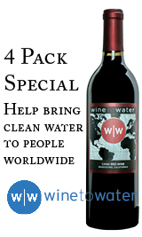 Wine to Water Cana Red Blend 4 Pack (4x750ml)