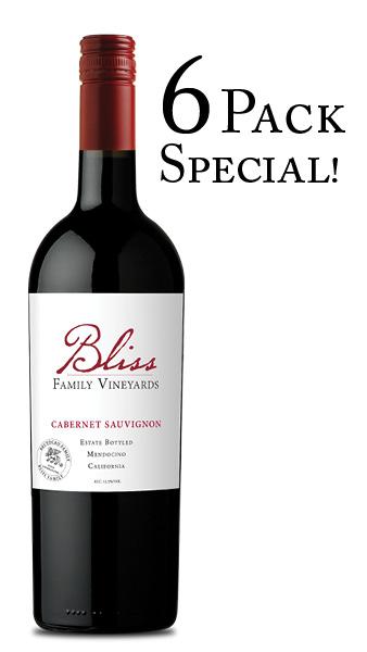 2016 Bliss Family Vineyards Estate Cabernet Sauvignon 6 PACK (6 x 750mL)
