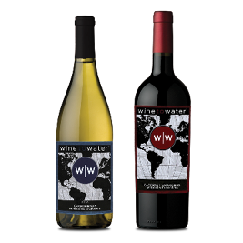 Wine to Water Red & White Holiday 2 pack (2x750ml bottles)