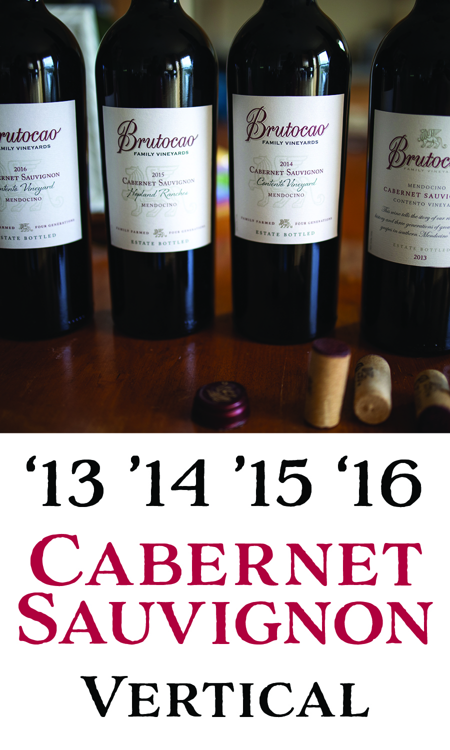 90+ Point Cabernet Sauvignon Vertical (4 x 750mL)